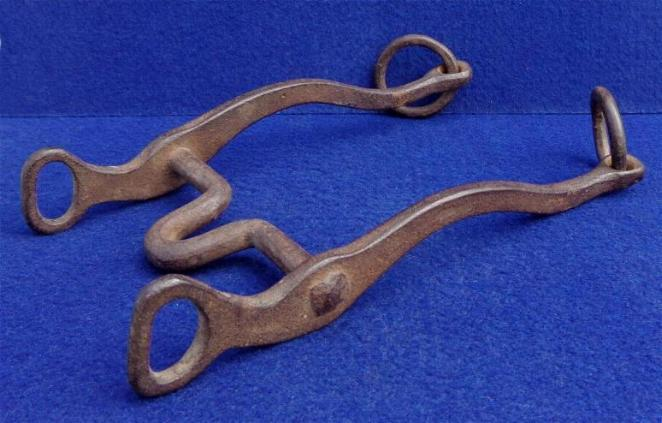 Huge Crude Civil War Period or Earlier Hand Forged Draft Animal Bridle Bit