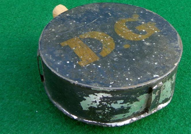 Nice ca. 1840s-1850s Painted Tin Drum Militia Canteen