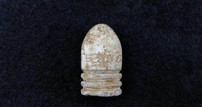 "RARE Dropped Confederate ""Arkansas Hog"" Bullet - .69 Caliber Trans-Mississippi Projectile - Recovered at Mark's Mills, Arkansas"