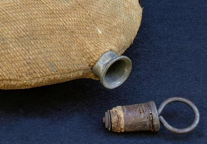 Civil War U.S. Bullseye Canteen with Wonderfully Intact Brown Wool Cover
