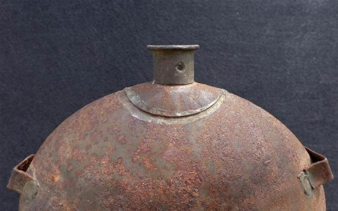 Nice Almost Relic Condition M1858 Smoothside Canteen w/Pewter Spout & All Three Sling Loops