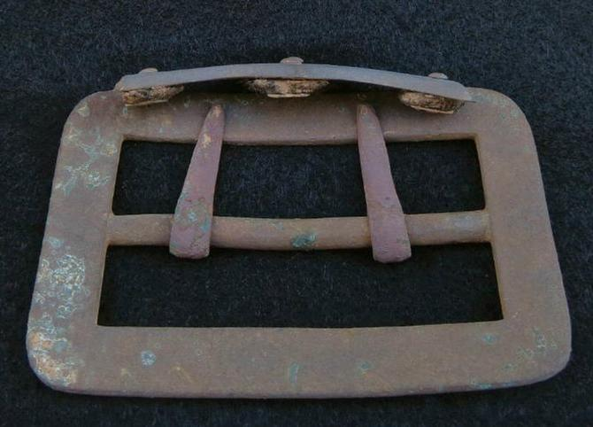 Fine Excavated U.S. Carbine Sling Buckle and Belt Tip/Batwing