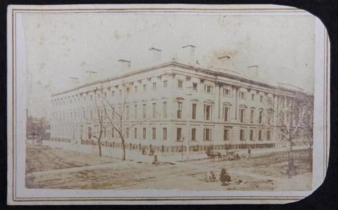Nice Cdv Image of the Civil War Period General Post Office in Washington D.C.
