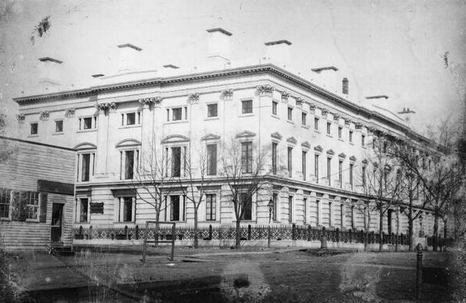 Library of Congress Image of the Same General Post Office as it appeared in 1846.